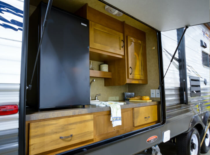 Kitchen of a recreational vehicle