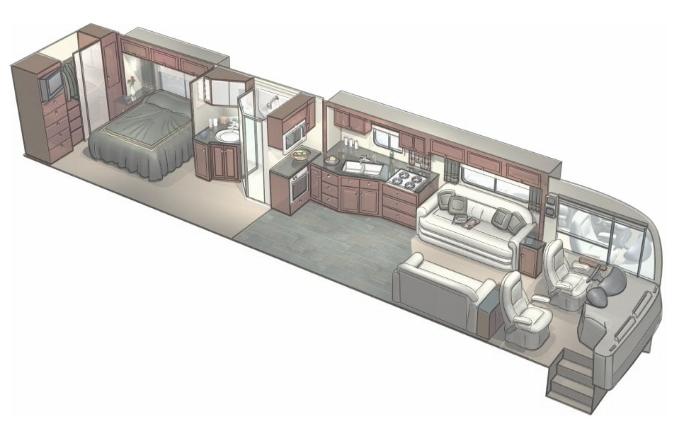 RV interior illustration
